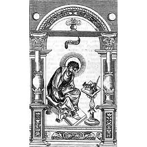 Евангелист Лука - гравюра из