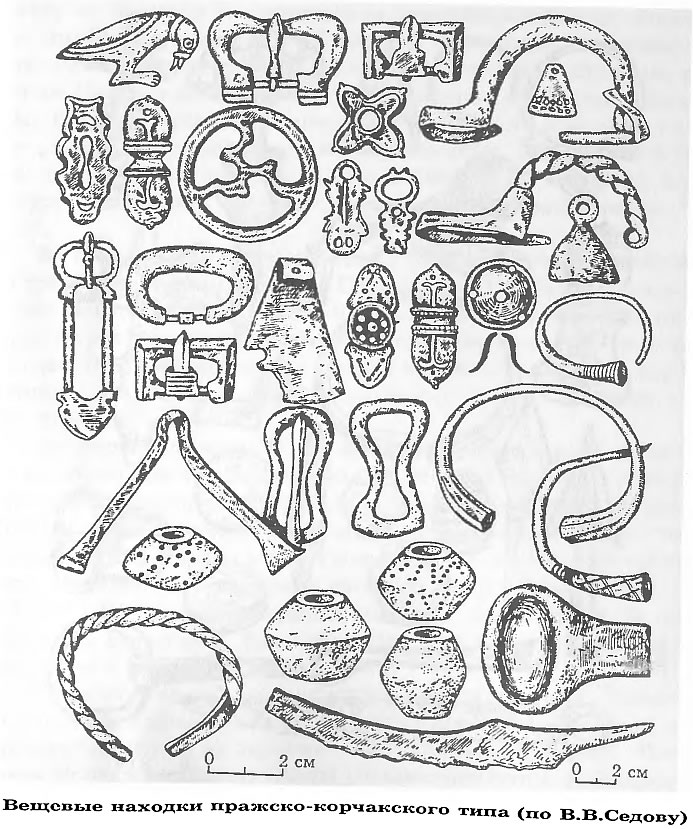 Вещевые находки пражско-корчакского типа