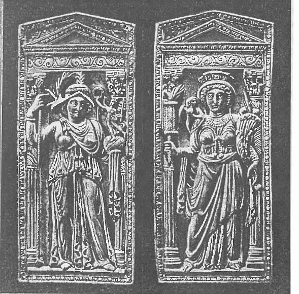 Диптих V в.: Рим и Константинополь